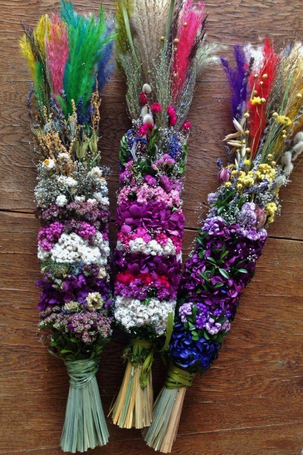 Polish Easter palms from dried flowers - Polskie palmy wielkanocne (10)