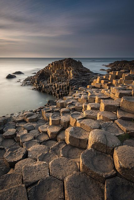 "Giants Causeway, Ireland Pinner says: ""Every time I stand on this unique causeway I am in wonder of the Earth we live on. The patterns and mathematics of the universe are here in these stones."" What a clever Creator we have!"