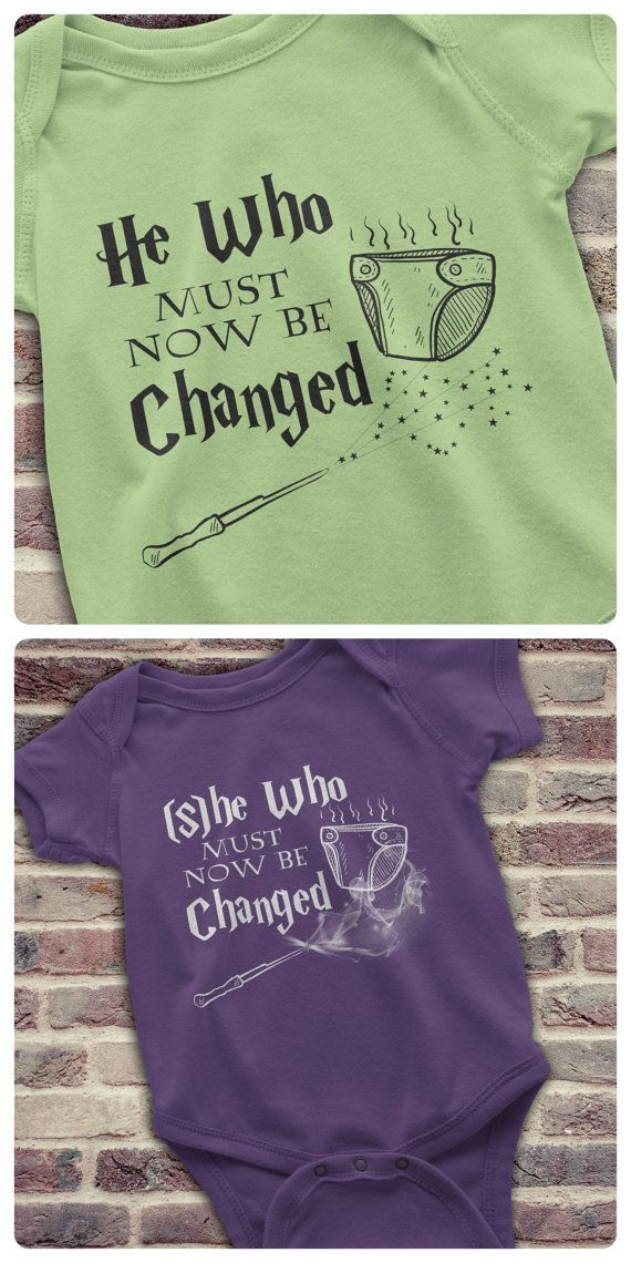 Funny Harry Potter Onesie, Harry Potter Baby Onesie, He who must now be changed…