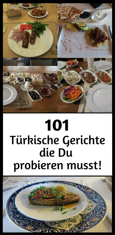 101 Türkische Gerichte: Hauptspeisen, Suppen, Mezze, Nachspeisen, Desserts, Knabbereien, Frühstück und vieles mehr aus der türkischen Küche das zu unbedingt einmal probieren musst! Zur Liste mit dem Essen geht es hier: http://www.tuerkeireiseblog.de/tuerkische-gerichte/