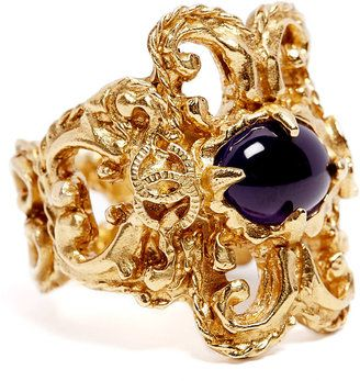 Vintage Heirloom Vintage Chanel Purple Stone Ring at ShopStyle
