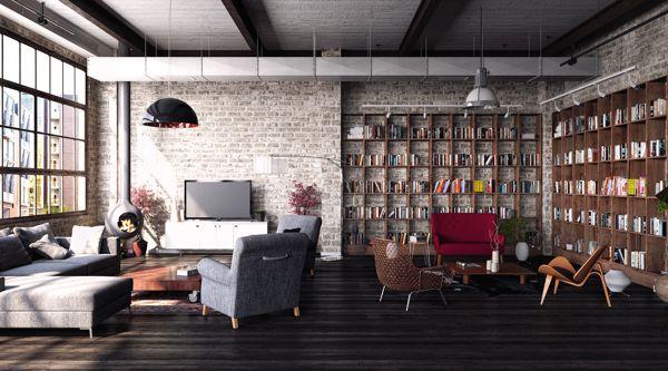Industrial Loft by Dusan Stevic, via Behance