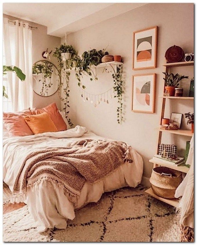 34 Simple Ideas On Creating A Stunning Boho Bedroom Style Bedroom Ideas With Images College Bedroom Decor Simple Bedroom Bedroom Decor
