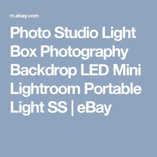 Photo Studio Light Box Photography Backdrop LED Mini Lightroom Portable Light SS | eBay