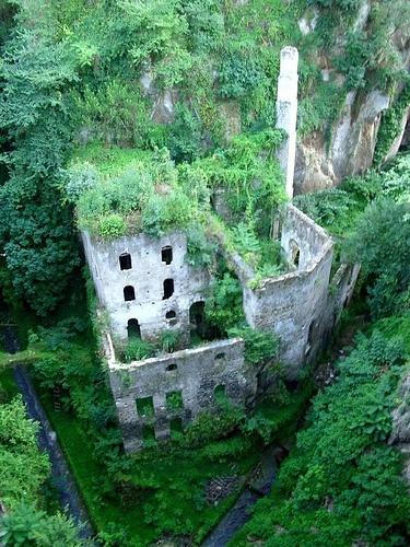 The Deep Valley of the Mills in Sorrento is an extraordinary site. This narrow gorge gets its name from the wheat-grinding mill that once functioned here. A saw mill was attached and a public wash-house used by the women of Sorrento. The mill became isolated from the sea during the 19th Century and the resulting rise in humidity made the area unbearable and so it was abandoned. The new climate was idea for vegetation, particularly for the fern family which thrive here. Entrance is near the…