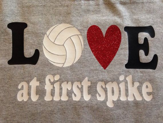 A super cute volleyball shirt! Love at first spike is on the front with you dig on the back. Made with high quality heat press vinyl.