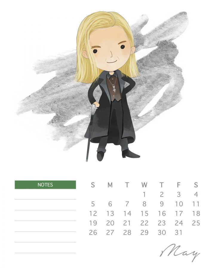 All New Free Printable 2019 Harry Potter Calendar 2019 Calendar