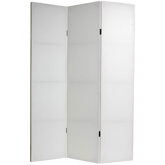 Handmade Canvas Do It Yourself 6-foot 3-panel Room Divider (China) (5 Panel), White, Size 71 x 15.7