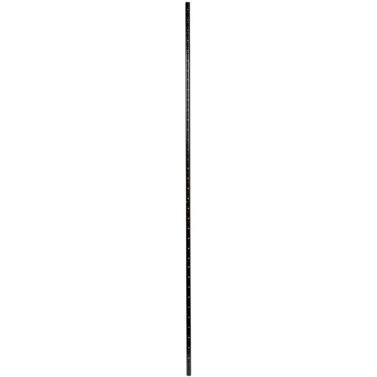 "Regency 74"" NSF Black Epoxy Mobile Shelving Post"
