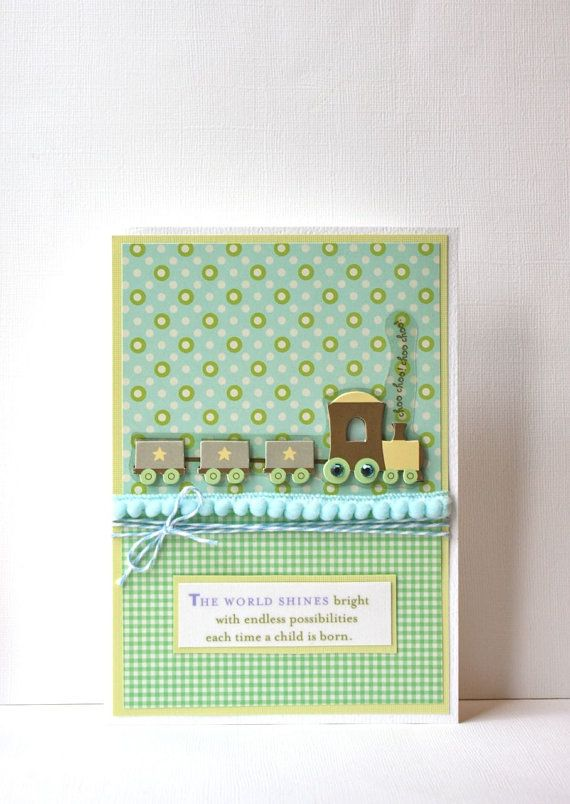 Baby Boy Handmade Card by SusanTracie on Etsy, $6.50