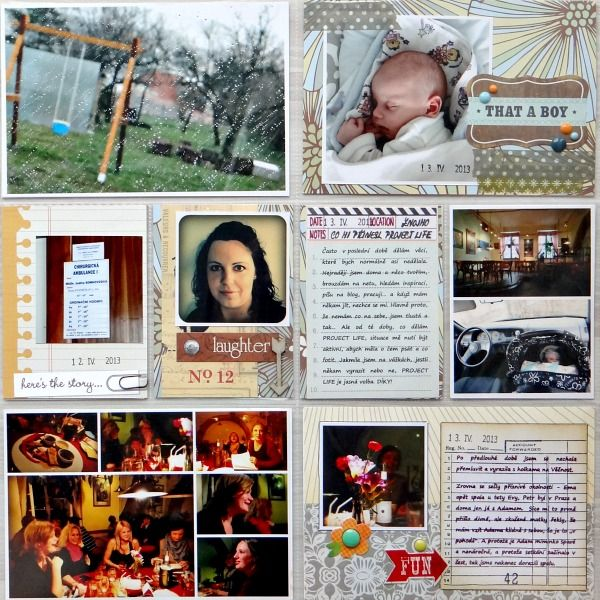 Project Life - Week 15 (right page)