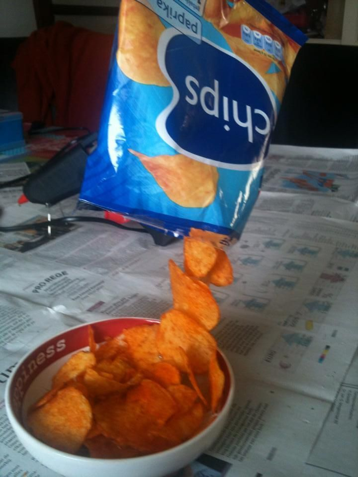 En varieer af en toe met bijvoorbeeld zwevende chips