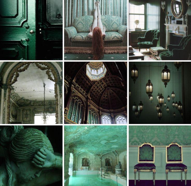 """hogwarts common rooms "" - Slytheri | ~ Slytherin ..."