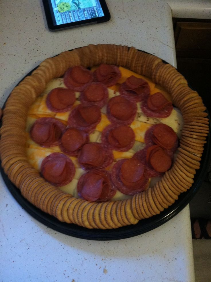 Ninja turtle pizza shaped meat and cheese tray!!