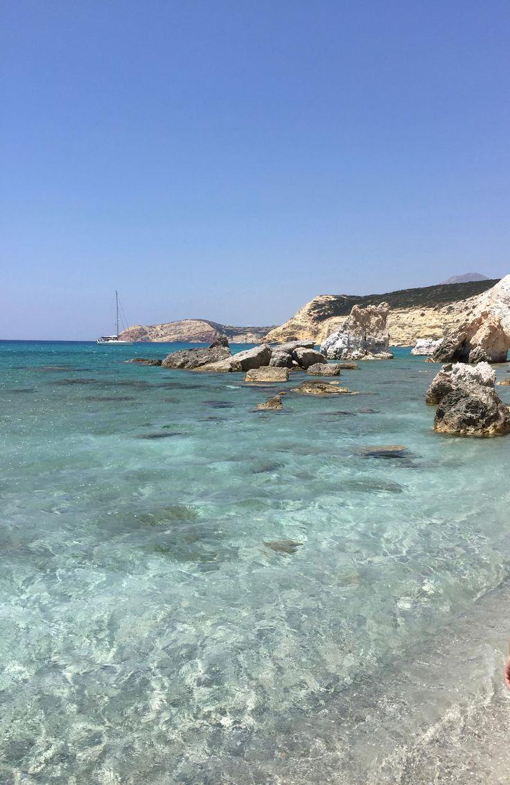 Grèce Cyclades Milos plage Firiplaka