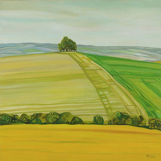 Anna Dillon the Artist -Barrow Hill near Wittenham Clumps