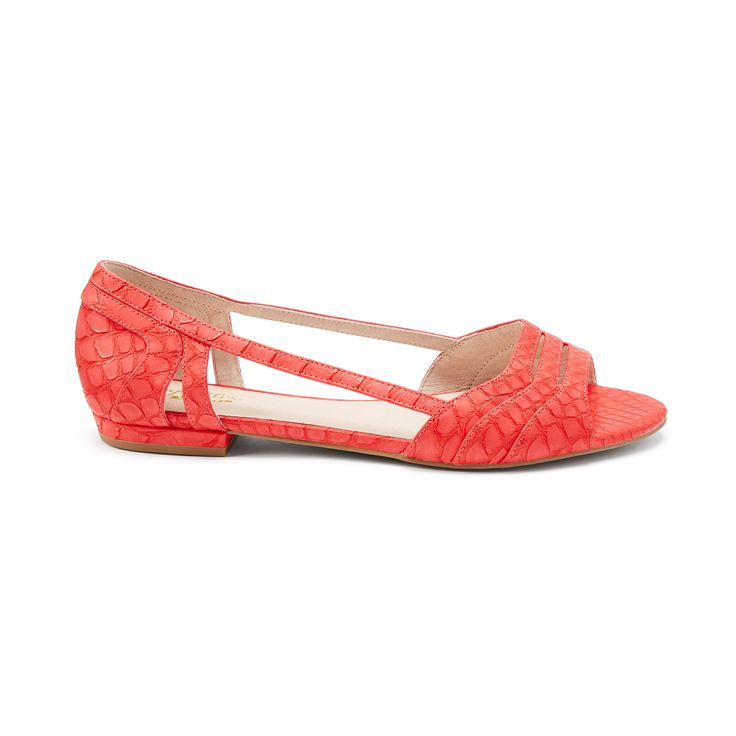 Introducing Stitch Fix Shoes: Colorful Peep-Toe Flats