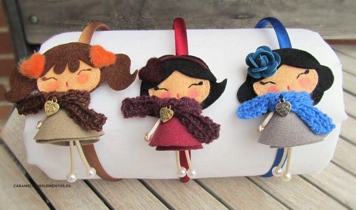 COMPLEMENTOS INFANTILES CARAMEL: DIADEMAS, TOCADOS, CORONAS Y COLETEROS: Diademas Infantiles My Doll Invernal