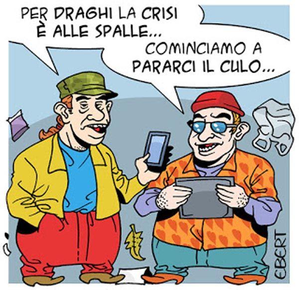 #MarioDraghi: la #crisi dell'#Eurozona è ormai alle spalle. #UE #Italy #Euro