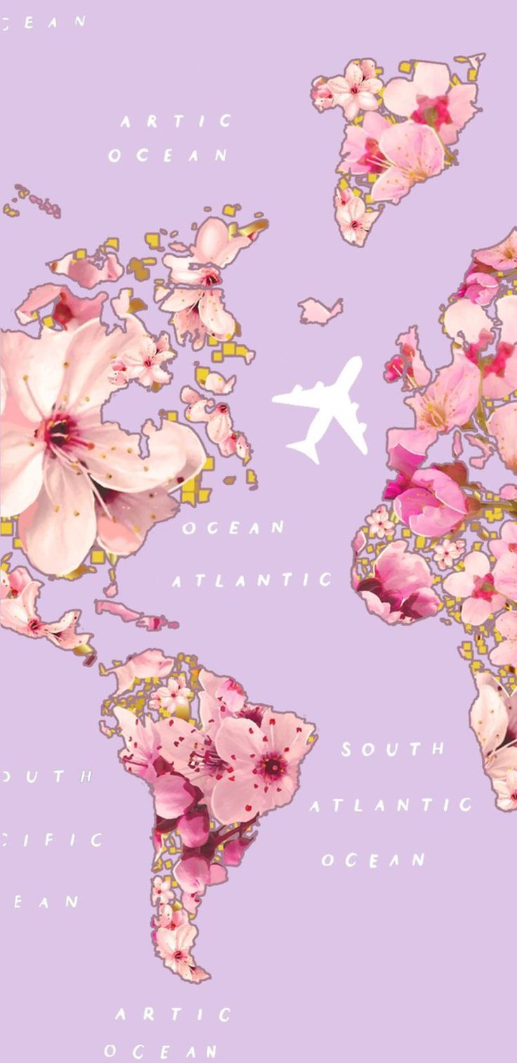 Mapa floral – #Floral #Mapa #planodefundo