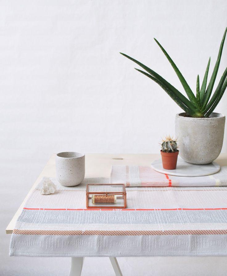 We're smitten by promising young Dutch designer Mae Engelgeer's wonderful weaves...  http://www.weheart.co.uk/2014/05/06/mae-engelgeer-textiles/