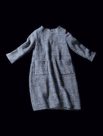Blue mini check tunic dress | Pockets | 45rpm