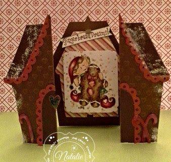 ONECRAZYSTAMPER.COM: Gingerbread Dreams by Natalie using High Hopes Stamps