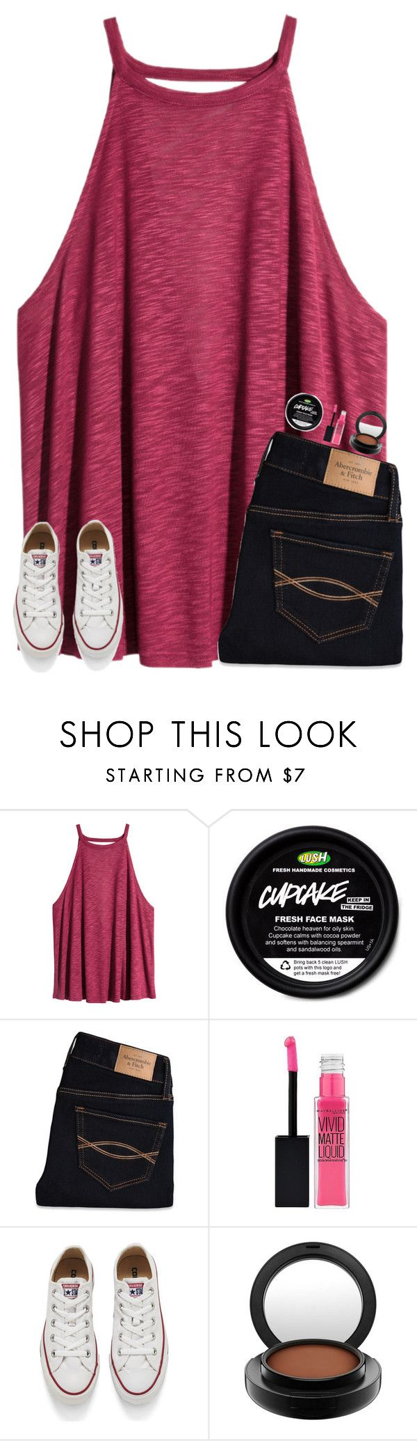 """""""u guys like this?"""" by smileyavenuegirl ❤ liked on Polyvore featuring H&M, Abercrombie & Fitch, Maybelline, Converse and MAC Cosmetics"""