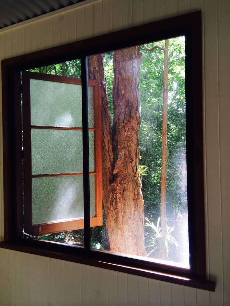 After fitting Fly Window Screen to Queenslander