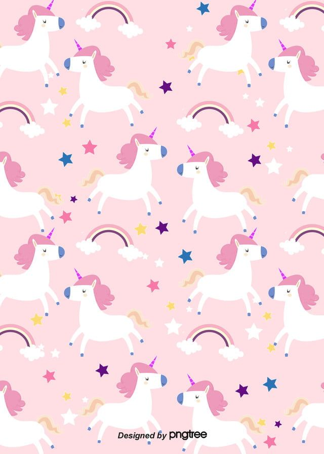 Fundo De Padroes De Arco Iris De Unicornio Dos Desenhos Animados Wallpapers Bonitos Wallpaper De Urso Papeis De Parede Kawaii