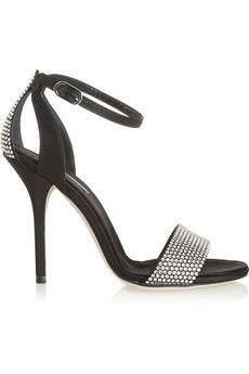 Christian Dior Satin Crystal-Embellished Sandals best seller online 0Qq5r8