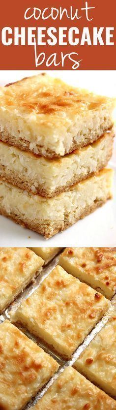 Coconut Cheesecake Bars recipe - the best coconut cheesecake bars I have ever…