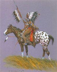 Nez Perce by Olaf Wieghorst kp