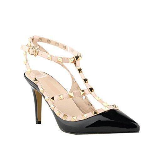 Oferta: 24.26€. Comprar Ofertas de WanYang Verano Remache Mujer Estiletes De Moda Punta Estrecha Zapatos De Tacón Altos Stiletto Fiesta Hebilla Cerrado Sandalia barato. ¡Mira las ofertas!