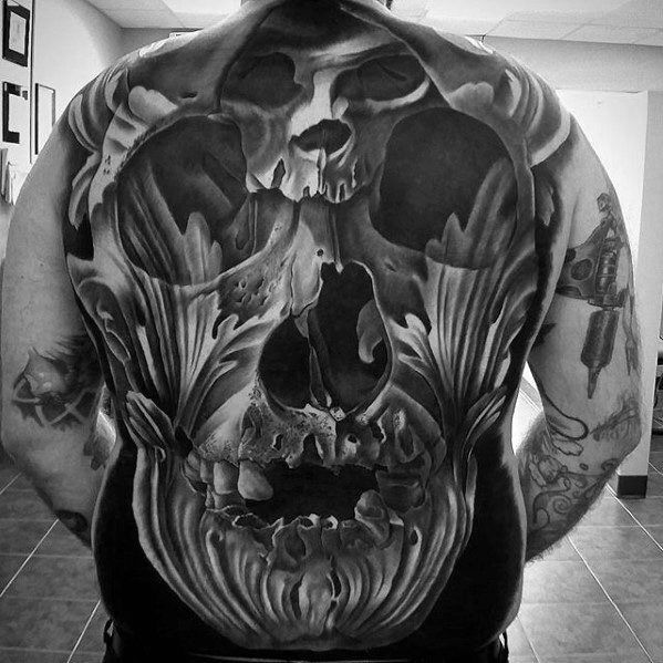 60 Great Tattoos For Men Masculine Design Ideas Skull Tattoos Skull Girl Tattoo Back Tattoos For Guys