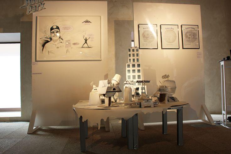 """""""Moon Park"""", Jonathan Notario en la exposición """"Deslocalización"""". Galería Blanca Soto en la Sede del COAM #Madrid. #exposiciones  #arte #art #artecontemporáneo #contemporaryart #arteespañol #artistasespañoles #spanishartists #arterecord 2015 https://twitter.com/arterecord"""