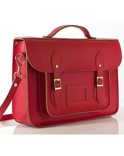"""Thick as Thieves 15"""" Red Leather Satchel"""