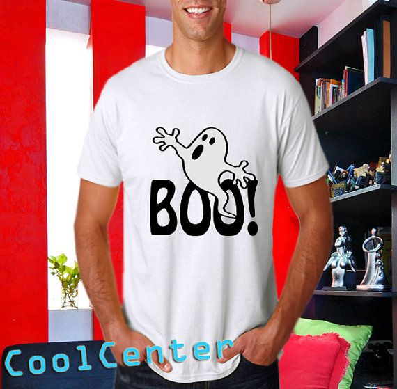 Halloween Ghost men tank top print screen tshirt for by CoolCenter