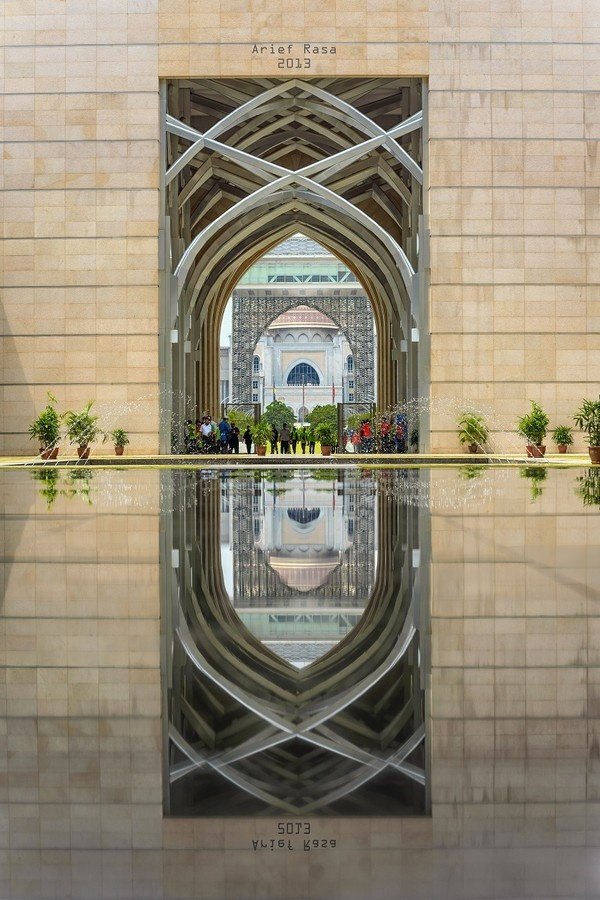 The forecourt of the Steel Mosque, Putrajaya