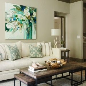 Erin Gregory floral in a living room designed by Kandrac and Kole Interiors and Photographed by Emily Followill