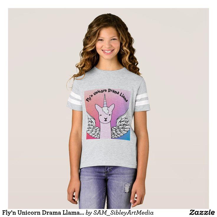 Fly'n Unicorn Drama Llama T-Shirt for girl