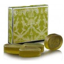 Ortigia Sicillian Lime Soaps - Glycerine (Set of 4)