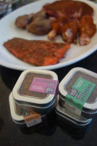 Welcoming the savory side of chocolate with indi chocolate Savory Cacao Spice Rubs available at http://indichocolate.com