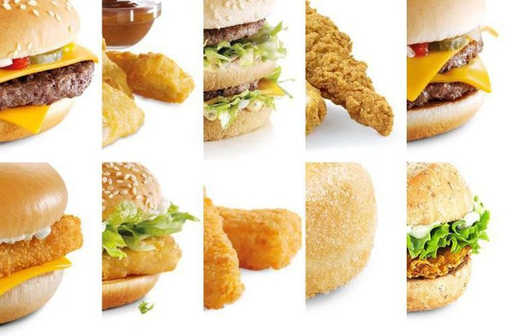 Can YOU identify the items on the McDonald's menu just by their bottom corner? #McDonalds #food #fastfood #delicious #eating #happymeal