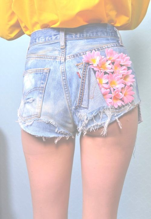 Grunge Indie Clothing | ... hipster vintage indie crafts Grunge blue flowers Clothes yellow Denim
