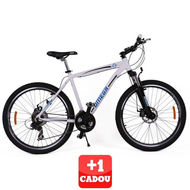 """Poze Bicicleta Omega Hawk 27.5"""" 21 viteze alb+1 CADOU"""