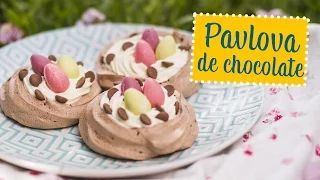 Mini pavlovas de chocolate | O Chef e a Chata | Lu Ferreira - YouTube