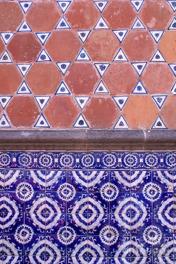 mexico Handmade tiles can be colour coordinated and customized re. shape, texture, pattern, etc. by ceramic design studios