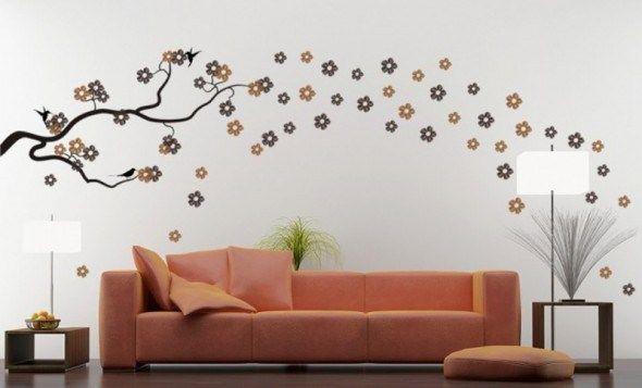 Excelentes Ideas para Decorar la Sala de tu #Departamento con Vinilos