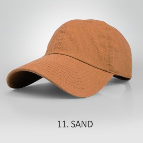 Polo-Style-Curved-Bill-Washed-Cotton-Plain-Baseball-Cap-low-profile-Blank-Hats